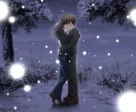 animecouplekisswinter
